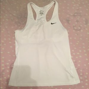 White Nike work out tank top